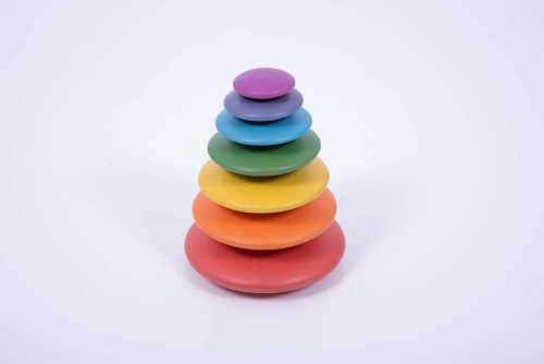 Wooden Rainbow Buttons 7pk